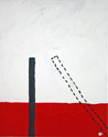 lines painting white black red solid dotted vertical diagonal art